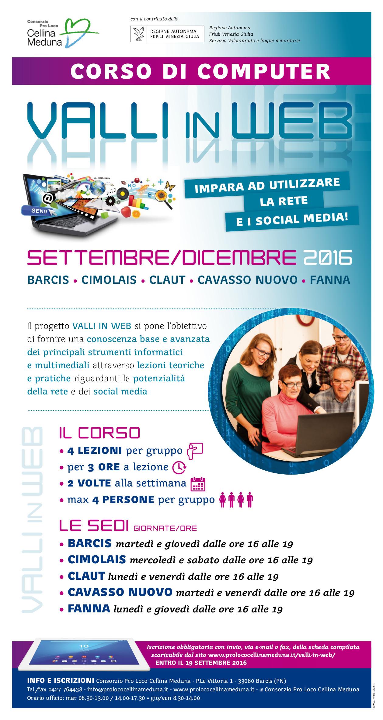 Consorzio Pro Loco Cellina Meduna Locandina Valli in Web